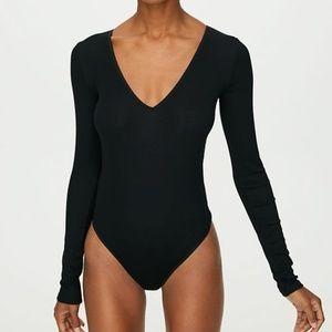 V neck bodysuit